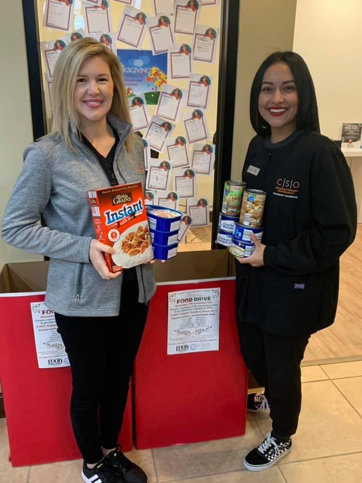 donating to the food drive